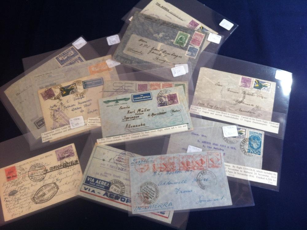 Lot 98 - Postal History , Airmail: BRAZIL, select
