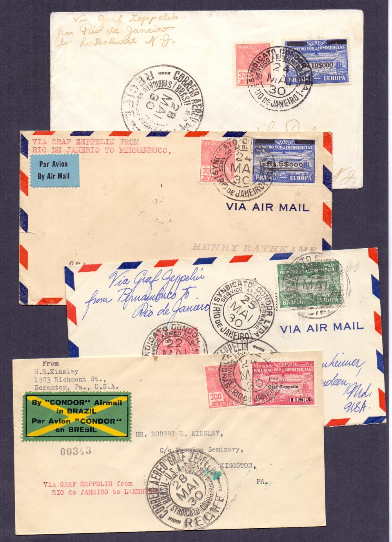 Lot 97 - Postal History , Airmail : BRAZIL, 1930