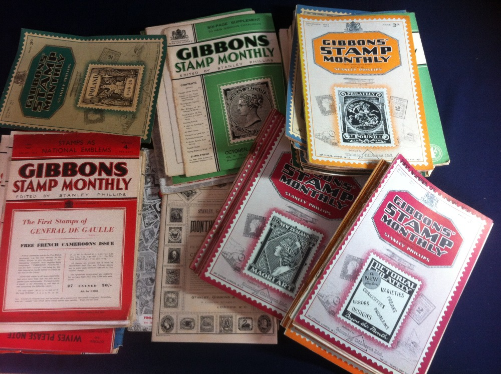 Lot 35 - Box of Stanley Gibbons Monthly Journals