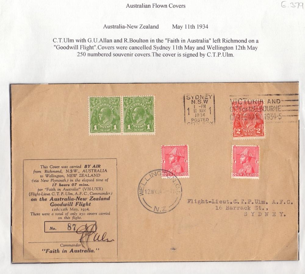 Lot 63 - Postal History Airmail : AUSTRALIA, 1934