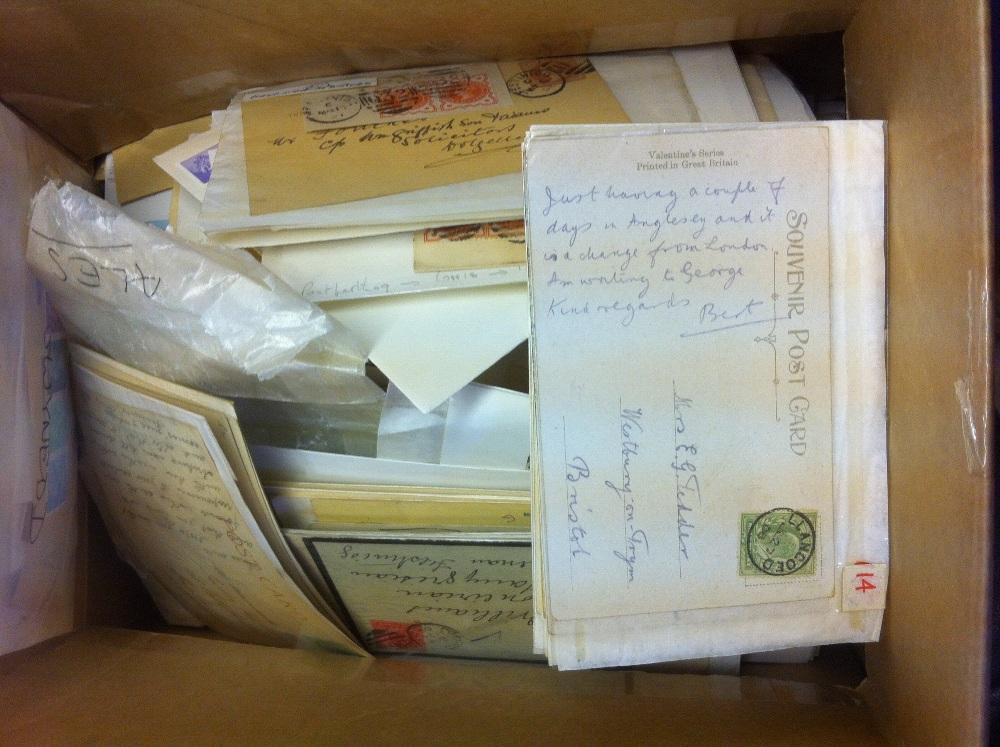 Lot 58 - Postal History : WALES, small box of pos