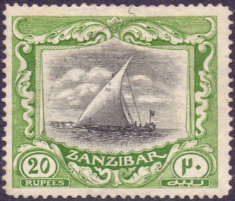 Lot 629 - Zanzibar Stamps : 1913 20r Black and Gre