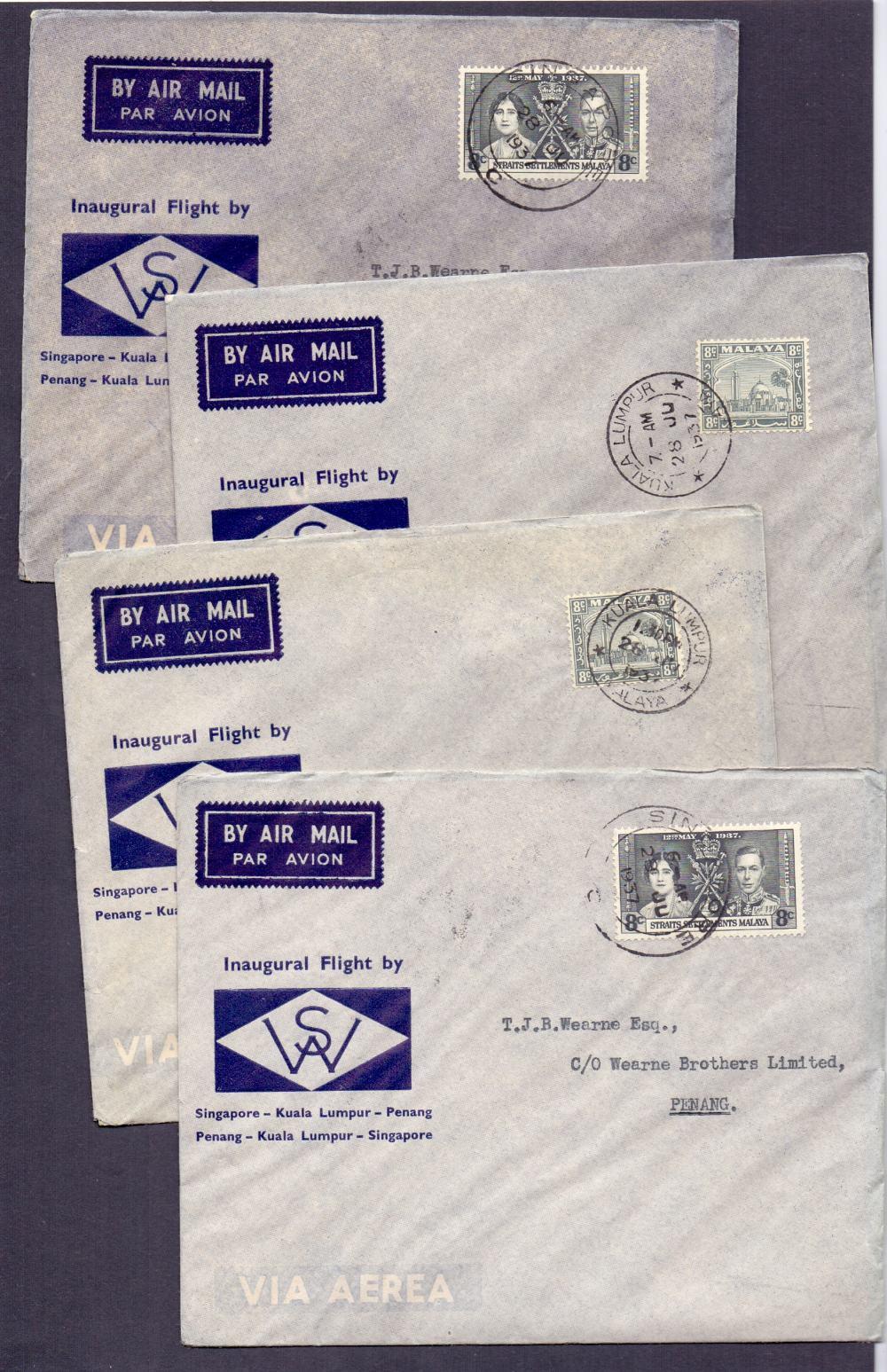 Lot 78 - Postal History . Airmail : MALAYA, 1937