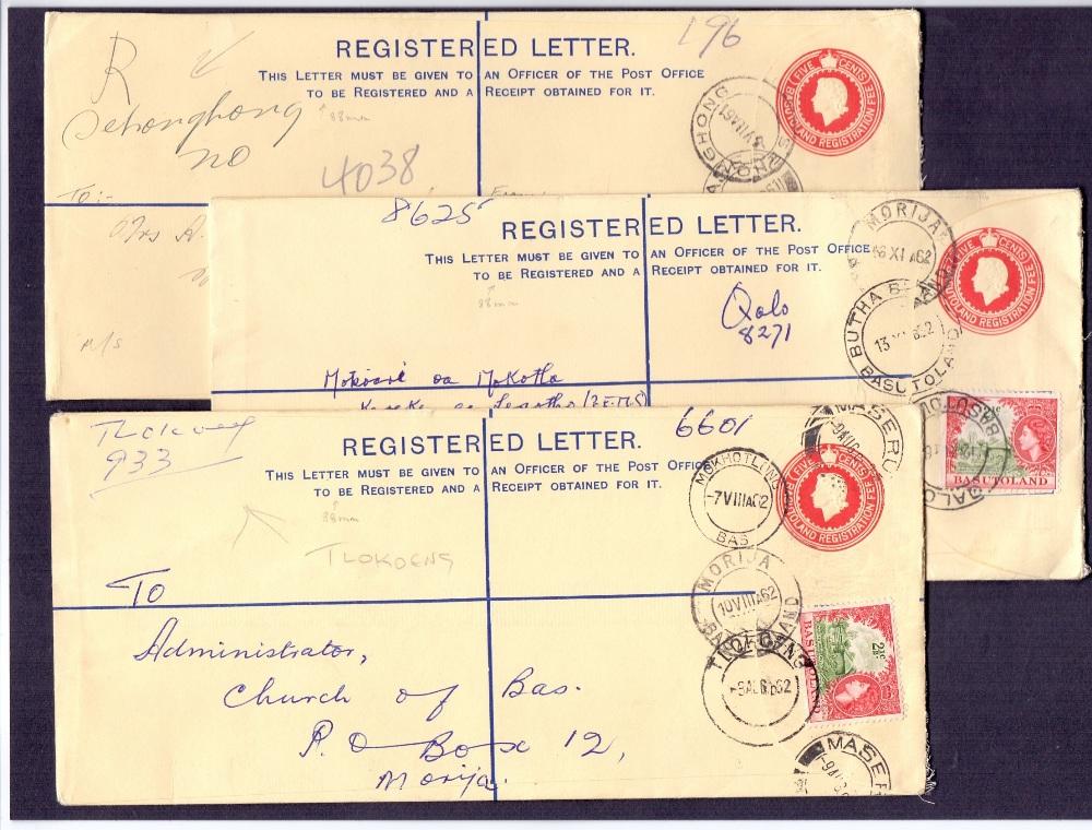 Lot 44 - Postal History : BASUTOLAND, 1961-62 thr