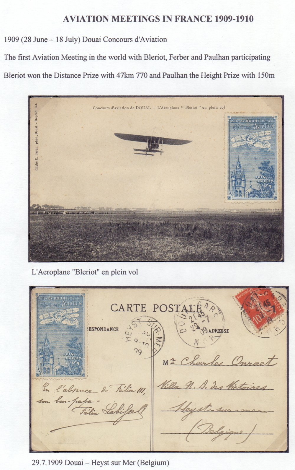 Postal History Airmail: FRANCE, fine col - Image 5 of 7
