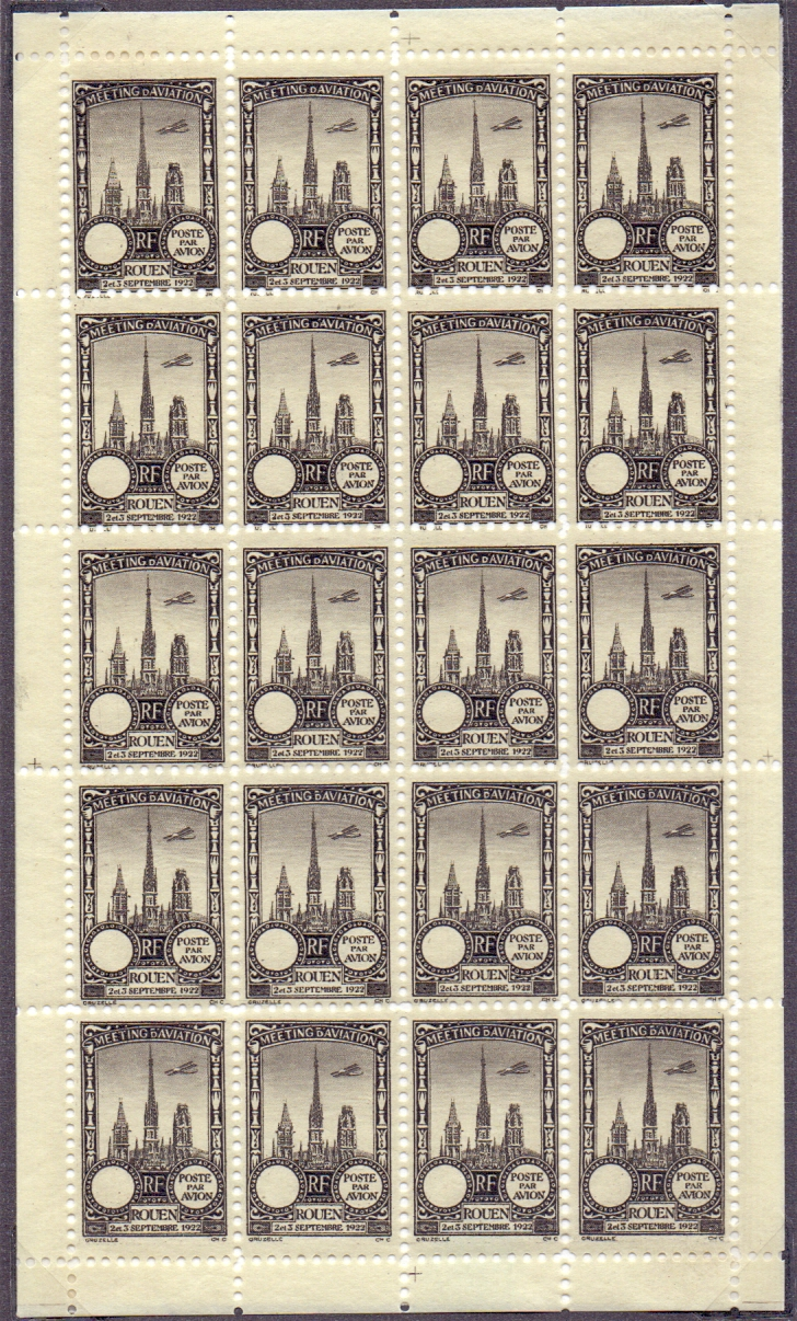 Lot 71 - Postal History : FRANCE, 1922 Rouen Avia
