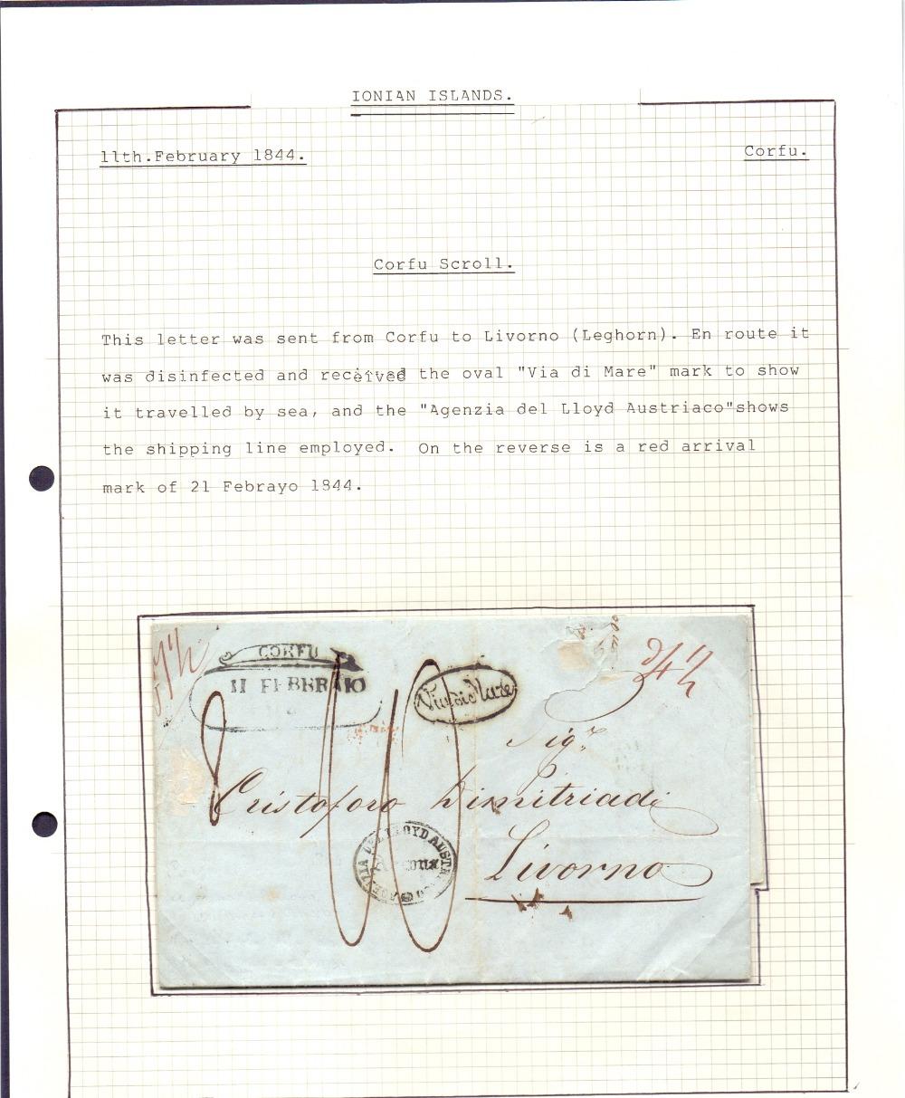 Lot 51 - Postal History : IONIAN ISLANDS, 1844 en