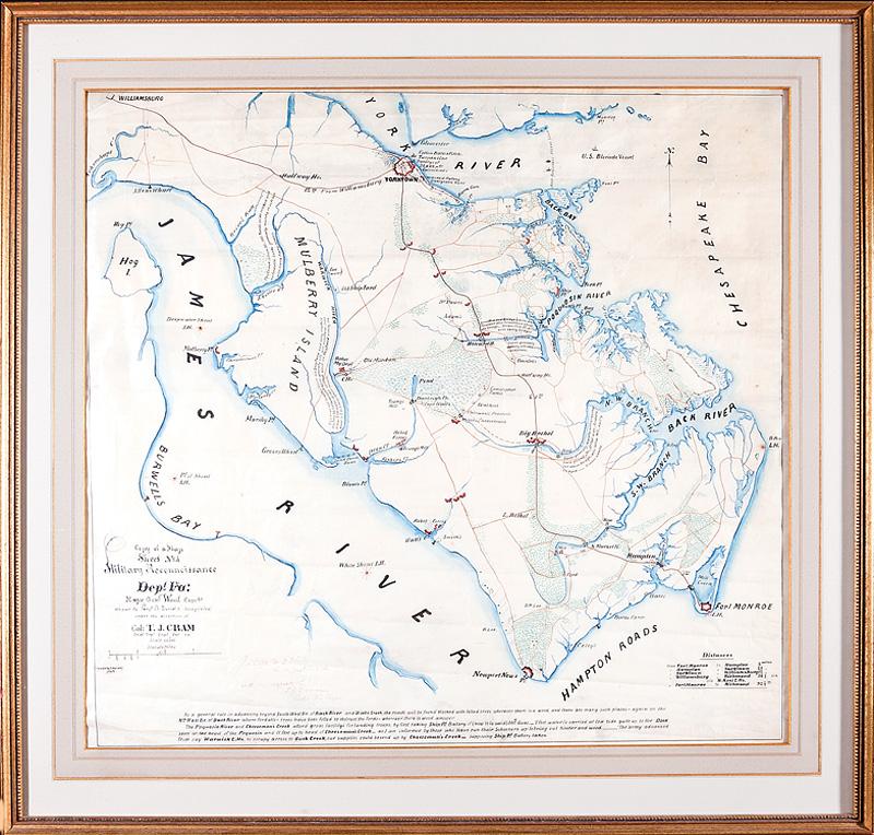 American Civil War Era Manuscript Map