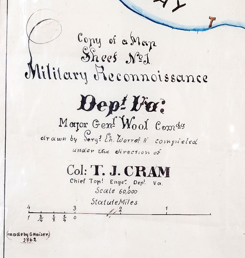 American Civil War Era Manuscript Map - Image 2 of 3