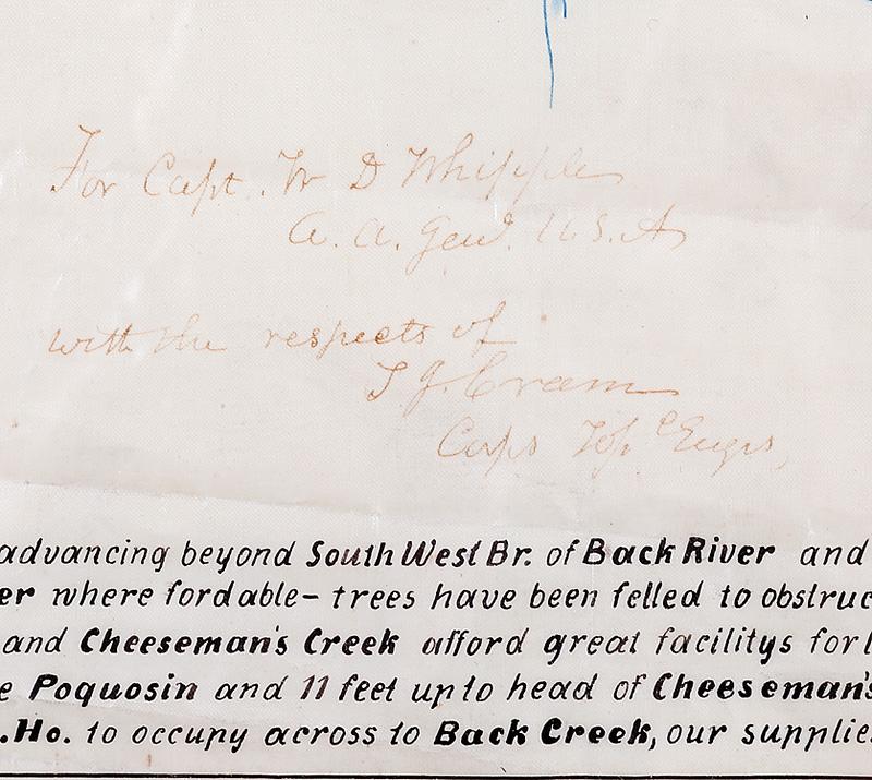 American Civil War Era Manuscript Map - Image 3 of 3