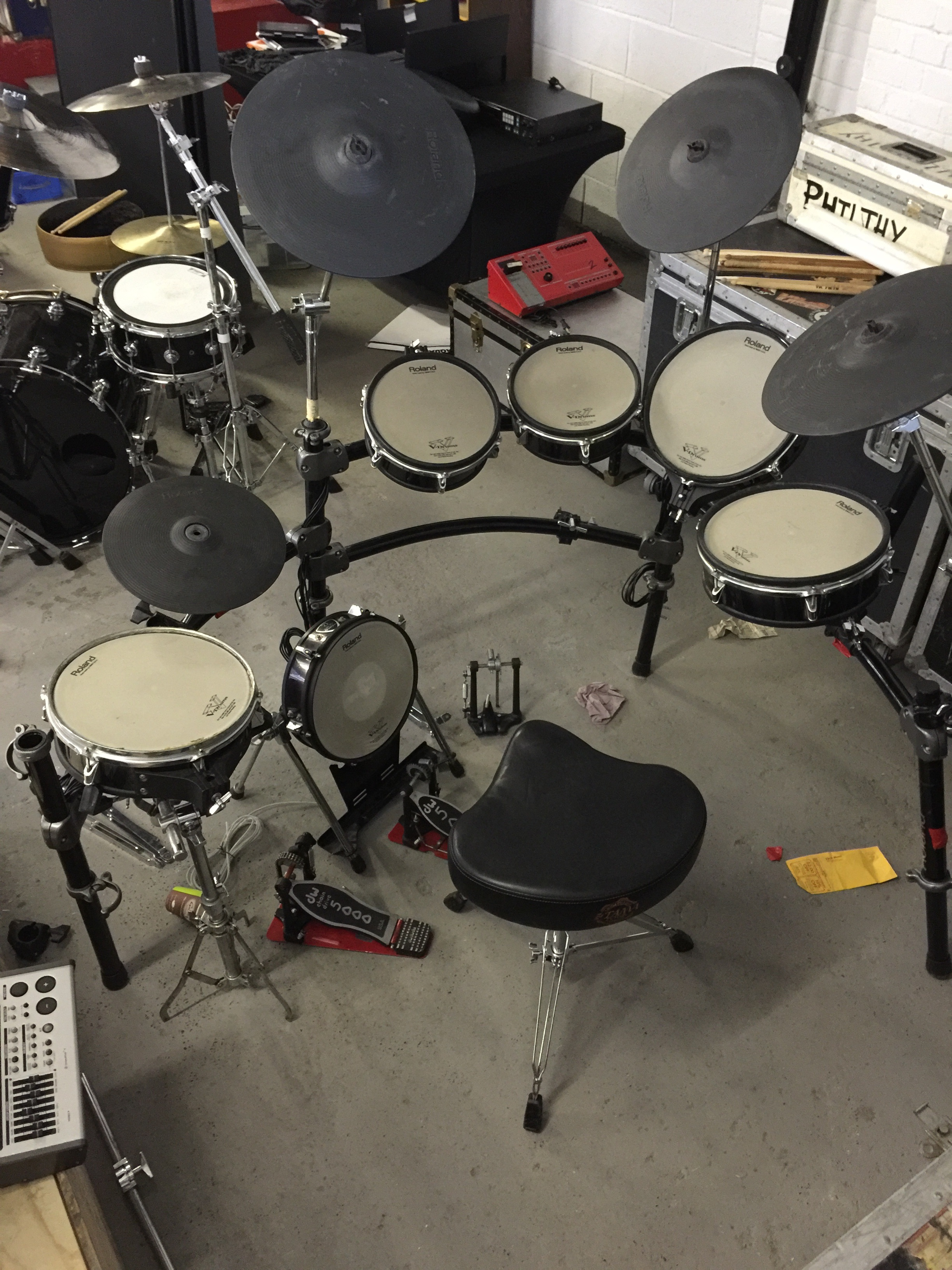 MOTORHEAD & PHILTHY ANIMAL - Phil's Roland TD20 V-Pro Series Electronic Drum Kit.
