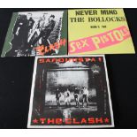 CLASH/PISTOLS AND RELATED - Great selection of 6 x LPs.
