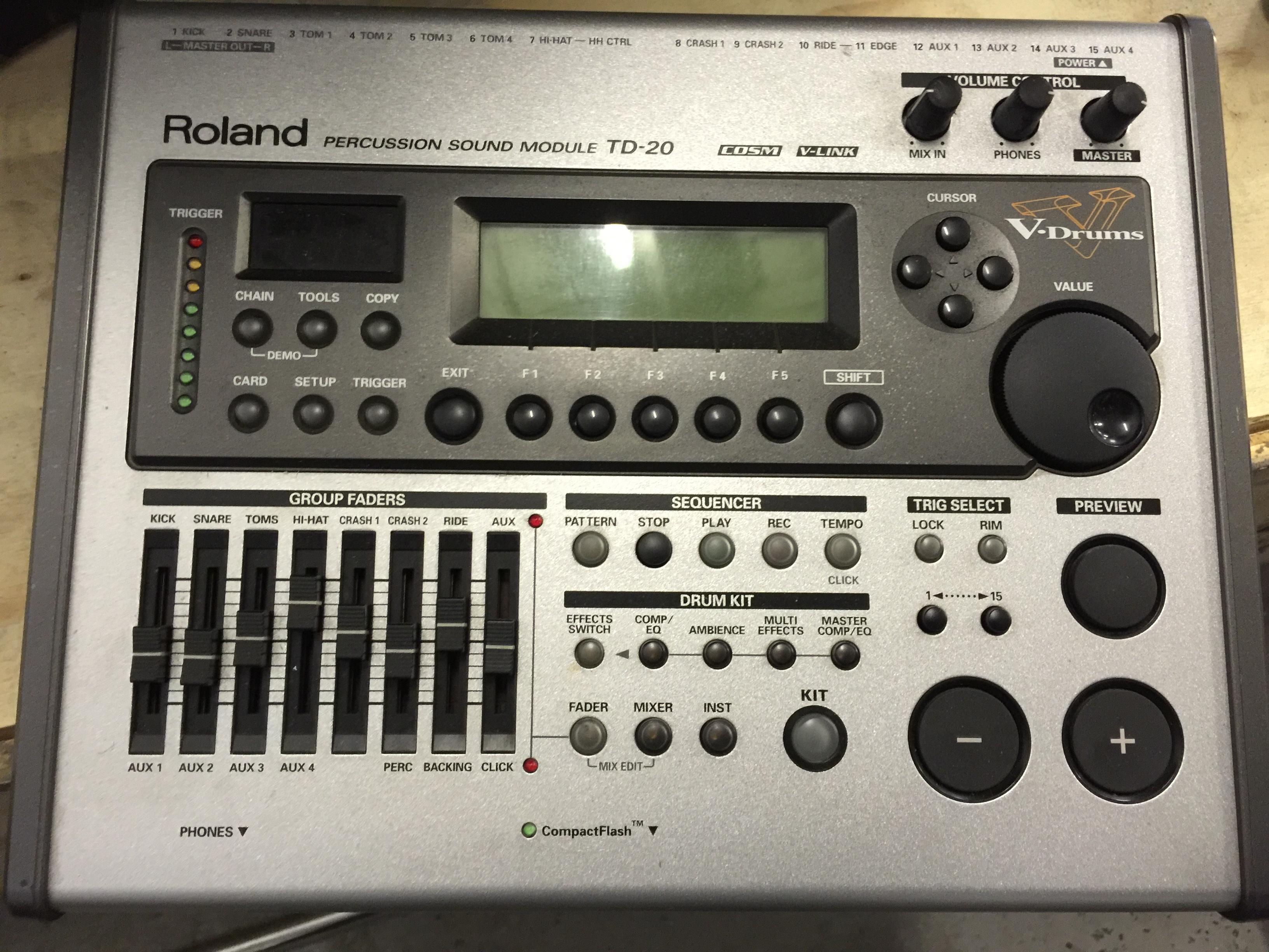 MOTORHEAD & PHILTHY ANIMAL - Phil's Roland TD20 V-Pro Series Electronic Drum Kit. - Image 5 of 5