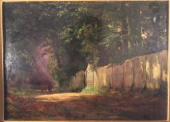 ENGLISH SCHOOL (19th century) In From Pasture Oil on canvas laid down Indistinctly signed and dated