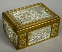 An early 20th century Erhard & Sons Jugendstil trinket box Worked with modernist and traditional