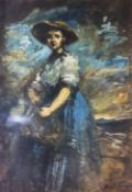 ENGLISH SCHOOL (19th century) Portrait Sketch Oil on paper Indistinctly signed 24 x 34 cm,