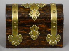 A Victorian coromandel casket by T.A.