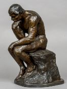 After RODIN Contemporary Model of The Thinker Bronze,