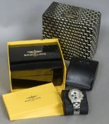 A boxed Breitling automatic chronometer gentleman's wristwatch,
