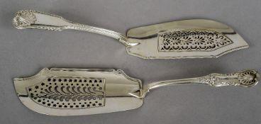 A George III silver fish slice, hallmarked London 1825,