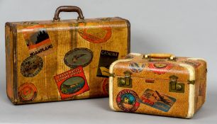 An Art Deco valise With label inscribed Travelaire Luggage, Friedberg Grunauer Co.