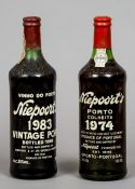 Niepoort's Vintage Port 1983 and 1974  (2) CONDITION REPORTS: Both generally in good