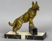 LOUIS ALBERT CARVIN (1875-1951) French Alsatian Bronzed Art metal,