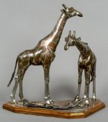 WERNER ENGE (20th century) German Nubian Giraffe (Giraffa Campelopardalis) Treated steel,