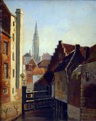 CONTINENTAL SCHOOL (19th/20th century) Townscape Oil on panel Indistinctly signed 19.5 x 24.