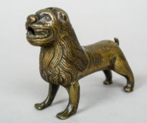 An early bronze aquamanile Typically formed as a lion.  13 cm wide.