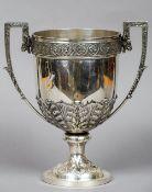 A George V silver trophy cup, hallmarked Sheffield 1912,