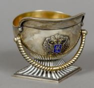 A Russian silver cup, with Second Kokoshnik mark for Petersburg, maker's mark of I.
