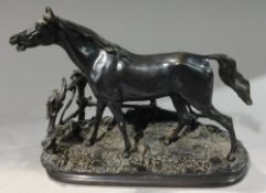 PIERRE JULES MENE (1810-1879) French Cheval a la Barriere Bronze Signed within the mould 19.