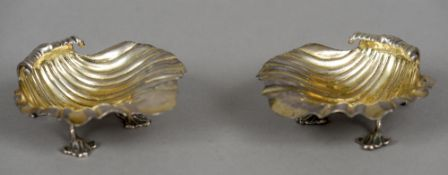 A pair of George IV silver salts, hallmarked London 1827,