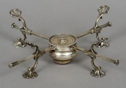 A George III silver dish cross, hallmarked London 1766, maker's mark indistinct Of typical form.