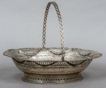 A Victorian Irish silver pierced basket,