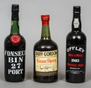 Fonseca Bin 27 Port Single bottle; together with Offley Boa Vista Vintage Port 1983,