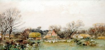Attributed to JOHN VARLEY, Junior (1850-1933) British Dorset Farm Watercolour Signed 52.