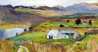 DAVINA MERRY (later GIBBS) (20th/21st century) British Shepherds Croft,