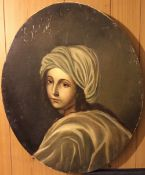 After GUIDO RENI (1575-1642) Italian Beatrice Cenci Oil on canvas 47.