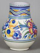 A pre-1934 Carter Stabler Adams Ltd Poole pottery vase,