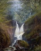 ROSA MINGAYE (19th century) British Wooded Creek Watercolour and bodycolour Signed and dated
