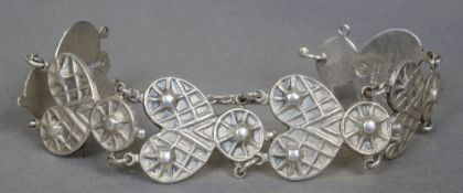 A contemporary silver bracelet by Kelevala Koru of Finland, circa 1956 18 cm long.