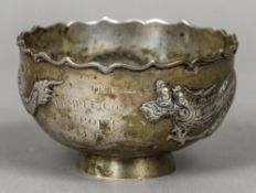 A 19th/20th century Chinese Export silver sugar bowl, possibly by Wing Nam & Co.