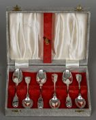 A set of six silver coffee spoons, hallmarked Newcastle 1852,