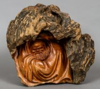 A Japanese root carving Worked as a sage in a cave.  34 cm high.