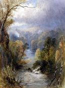 HENRY ANDREW HARPER (1835-1900) British Upland River Landscapes Watercolours Signed and dated