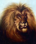 THOMAS SMYTHE (1825-1906) British Portrait of a Lion Oil on canvas 52 x 62.