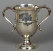 A George III silver twin handled cup, hallmarked London 1796,