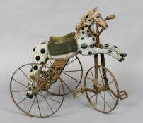 A 19th century French child's velocipede  Of typical form,
